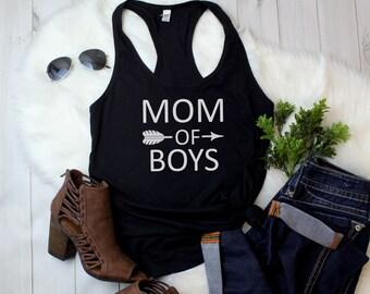 Tank Top - Mom Of Boys T Shirt, Mom Shirt, Boy Mom Shirt, Mom Life, Funny Mom Shirt, Gift For Mom, Mama Shirt, Mom Of Boys Tee, Raising Boys