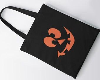 Crazy Eyes #2  Tote Bag, Shopping Bag, Shoulder Bag, Grocery Bag, Canvas Bag, Halloween, Hocus Pocus, Pumkin, Candy Bag