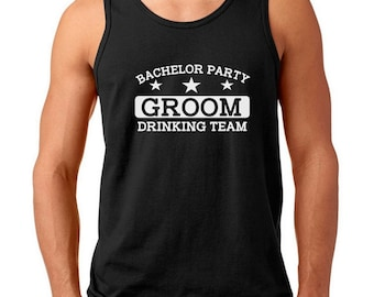 6577c8ef7974d4 Men s Tank Top - Bachelor Party Groom Drinking Team Shirt - Wedding Party T-Shirt  Gifts - Groomsmen Tee - Best Man Gift - Groom s Brew Crew