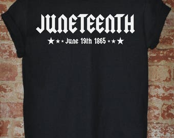 Men's - Juneteenth Shirt - Independence Day - Freedom Day - Emancipation Day - African American T-Shirt - Handmade