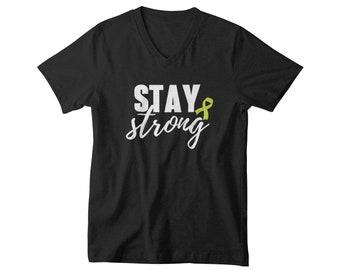V-neck Mens - Mental Health Shirt, Anxiety Shirt, Depression Awareness, Suicide Shirt, Inspirational Shirt, Depression Tshirt, Choose Life