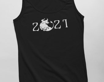 Men's Tank Top - 2021 Year Of The Ox T Shirt Chinese Zodiac Tee Shirt Lunar Year Spring Festival