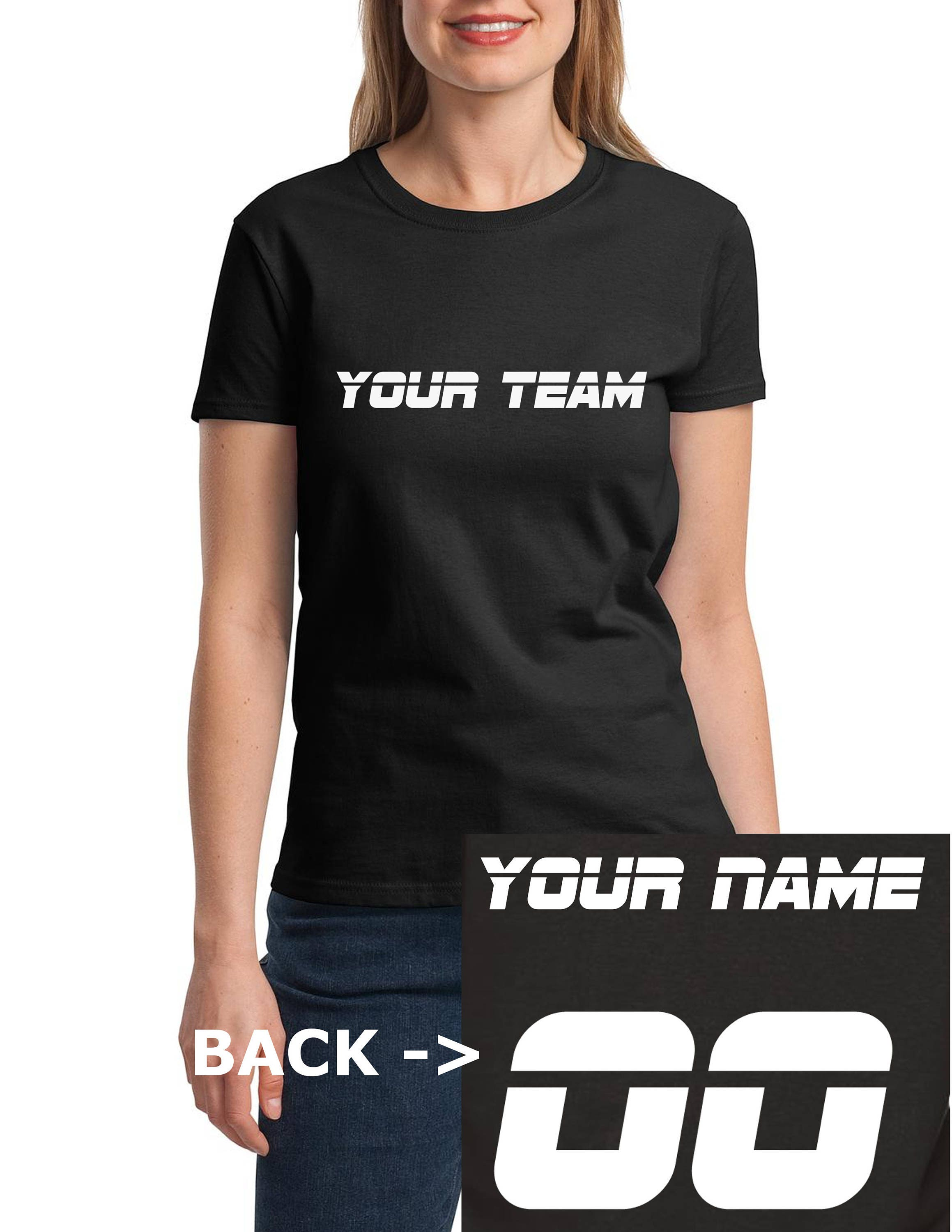 f3423a10 Ladies CUSTOM Shirt JERSEY - Personalized Name Number Team Tee