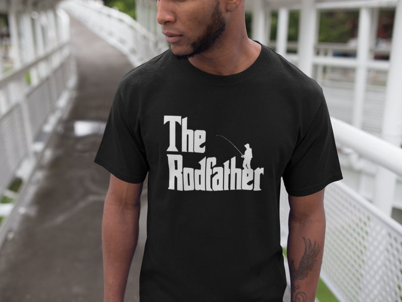 6554e44f9b The Rodfather Shirt Fishing T-Shirt Funny Gift Dad | Etsy