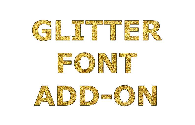 Glitter font ADD-ON Upgrade image 0