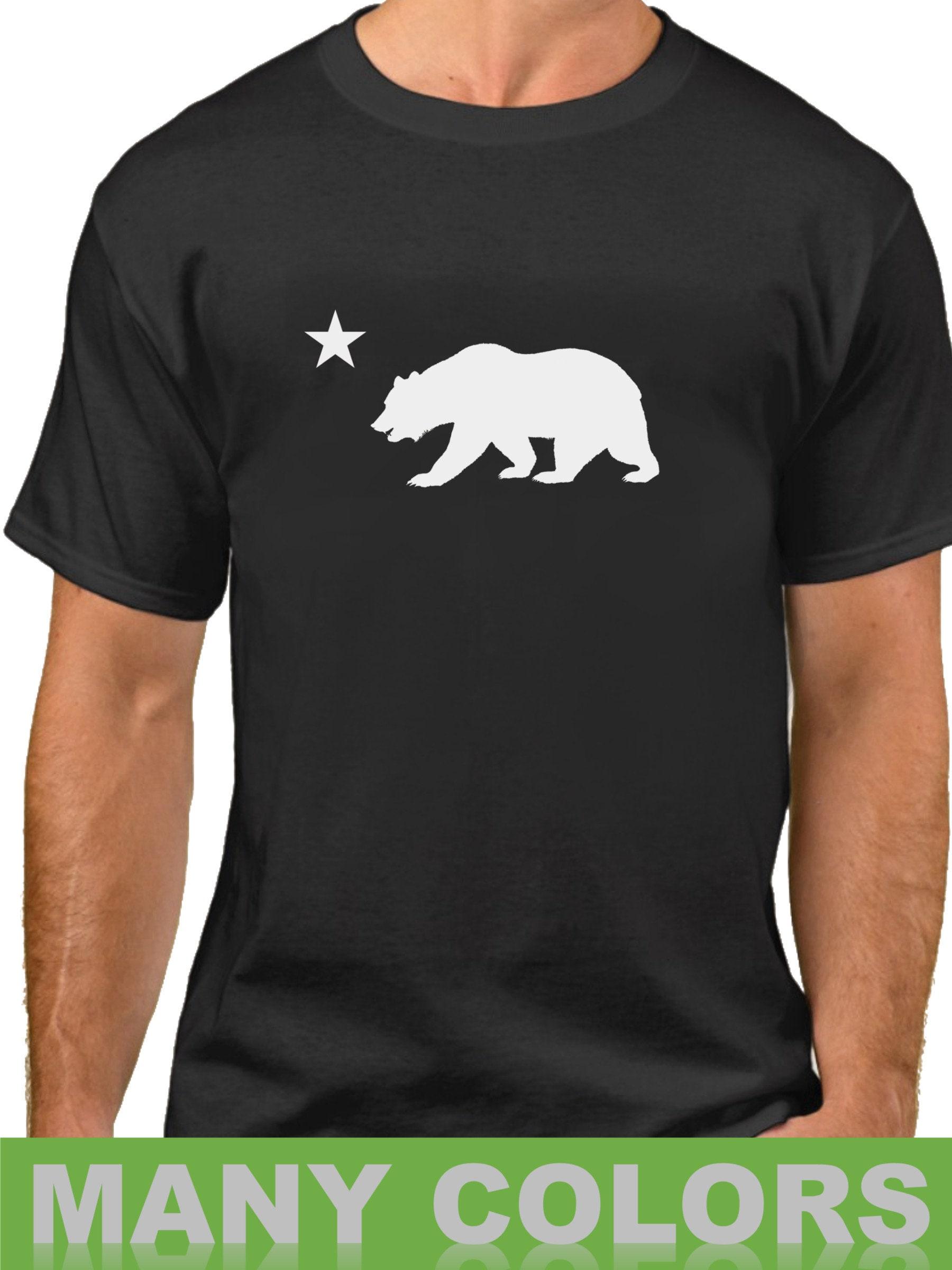 california republic shirt flag bear and star tee cali bear t