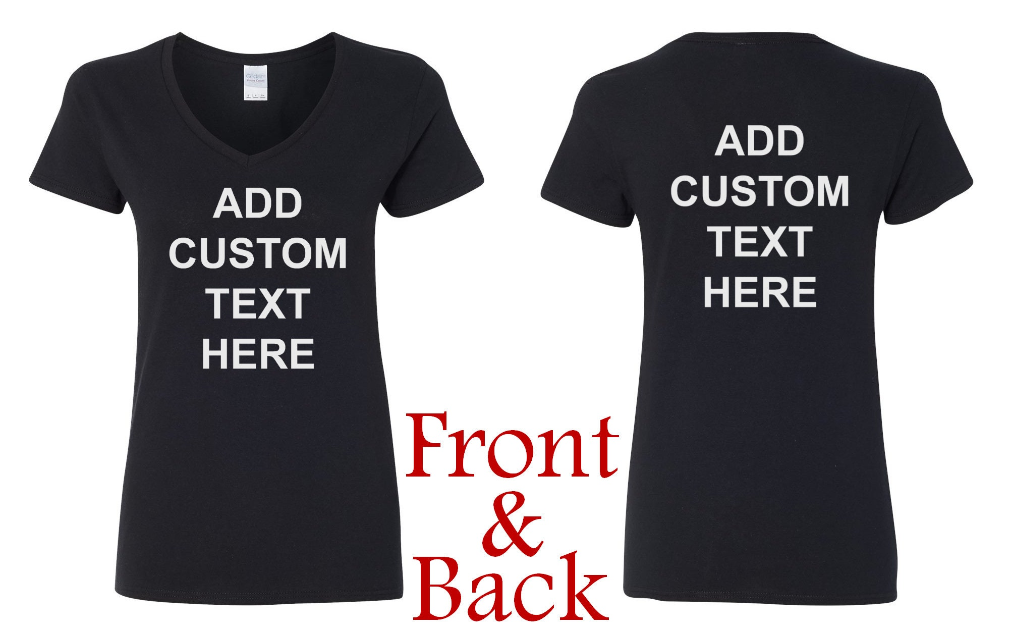 8bcabb039 ... Front & Back - Personalized Customized T Shirts - Your Own Text -  Business Name. gallery photo ...