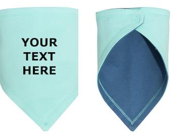 Personalized Bandana Bib, Custom Message, Personalized Baby Gift, Baby Boy, Baby Girl, Baby Shower Gift