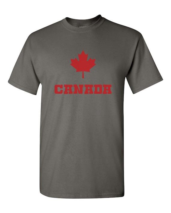 Canadian Flag Canada Maple Leaf Adult Mens Fashion Long Sleeve Hoodie T Shirts