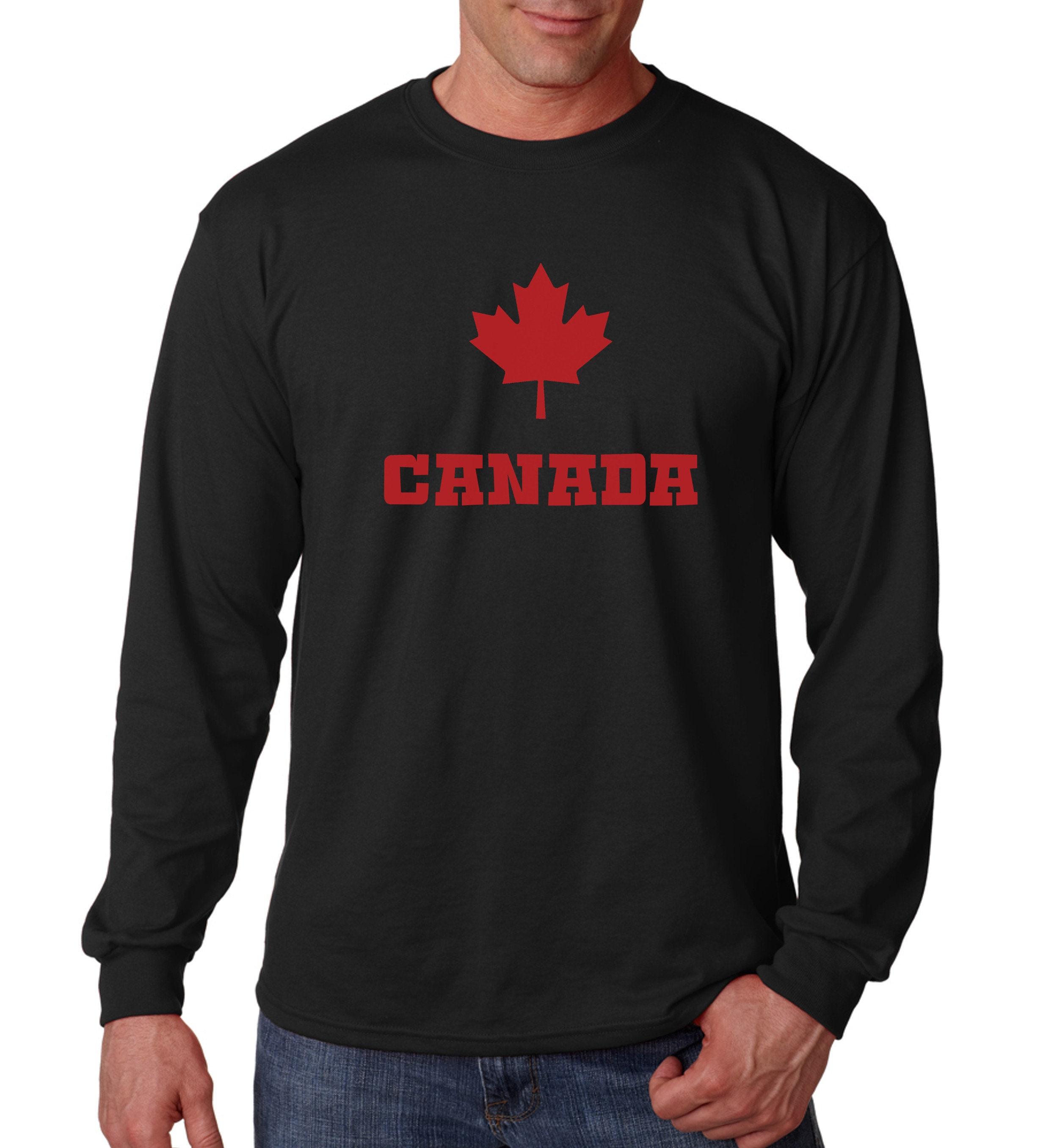 Long Sleeve Canadian Maple Leaf Shirt Canada Pride National