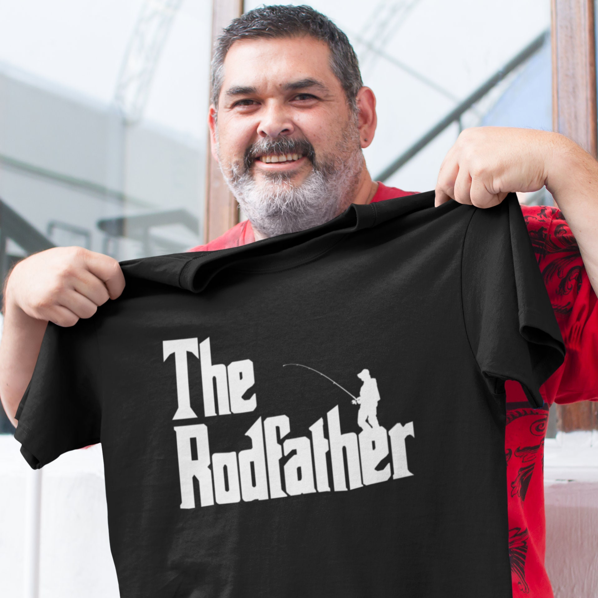 2321af36ed The Rodfather Shirt - Fishing T-Shirt - Funny Gift Dad - Present T Shirt -  Gift For Fisherman - Fathers Day - Fish Tee
