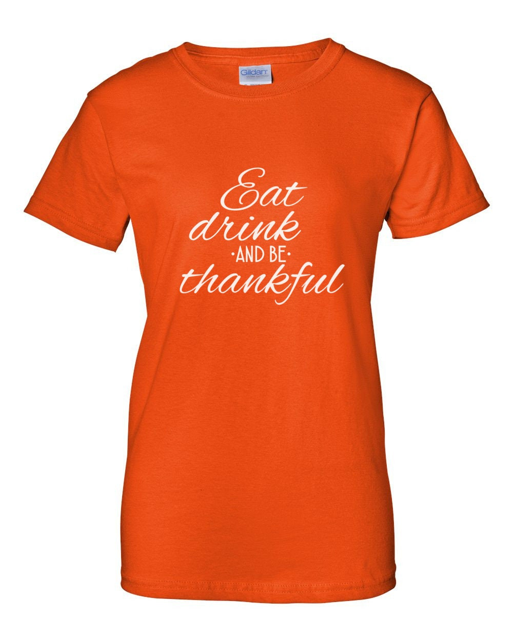 Eat Drink and Be Thankful Shirt Funny T-Shirt Fall Tee Thanksgiving Christmas