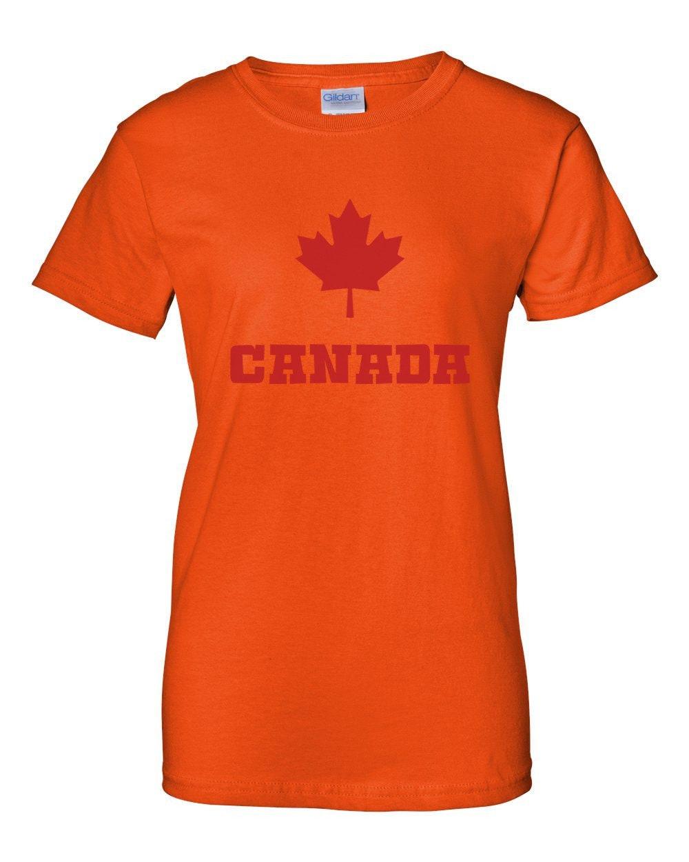 Ladies Canadian Maple Leaf Shirt Canada Pride National Symbol