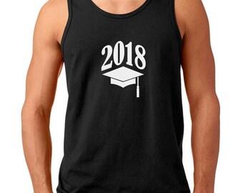 Men's Tank Top - 2018 Graduate Shirt - Class Of 2018 T-Shirt - Graduation Gift Tee - College - High School - End of School - Senior Shirt