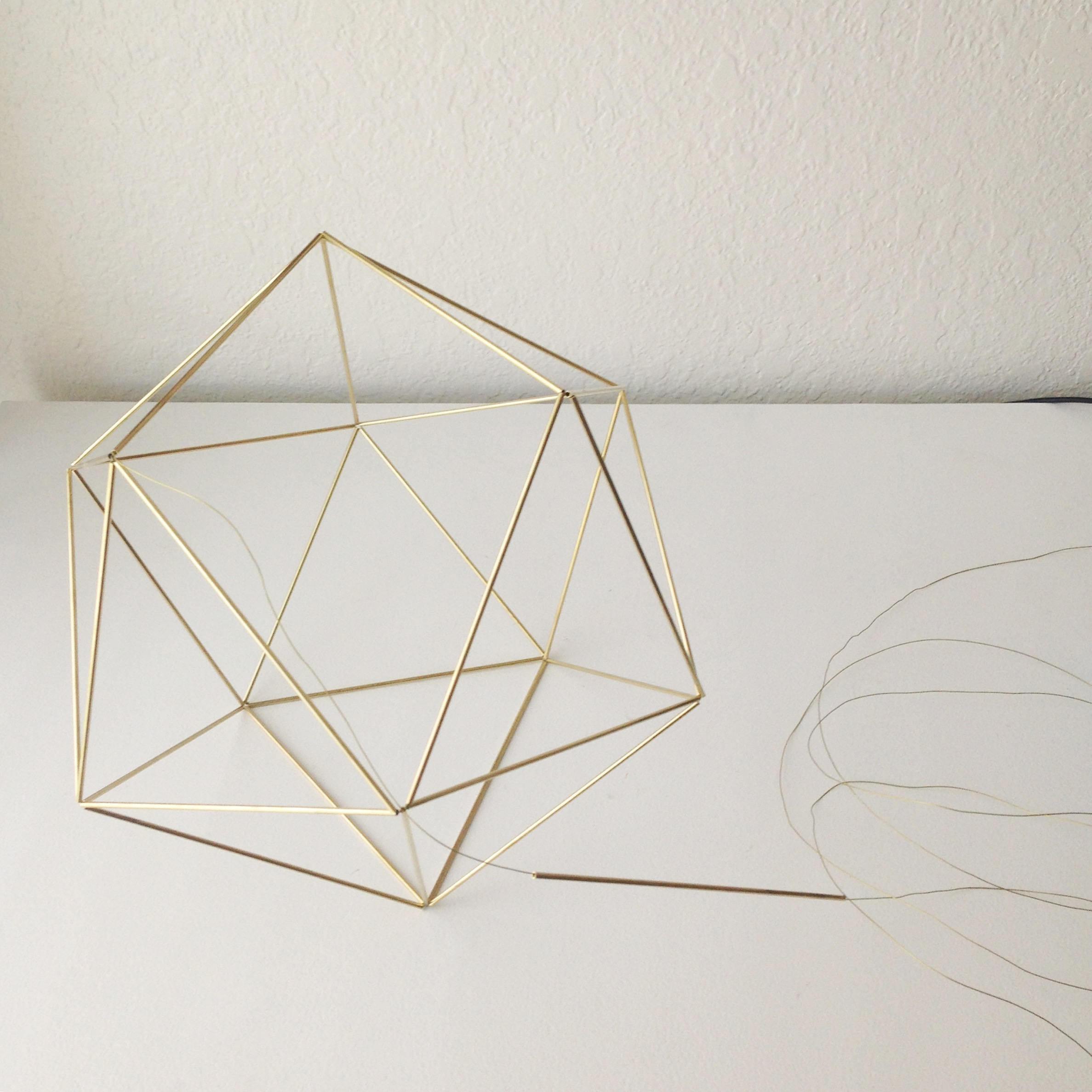 DIY Pattern Only w/ video: Geometric Icosahedron Himmeli ... - photo#36