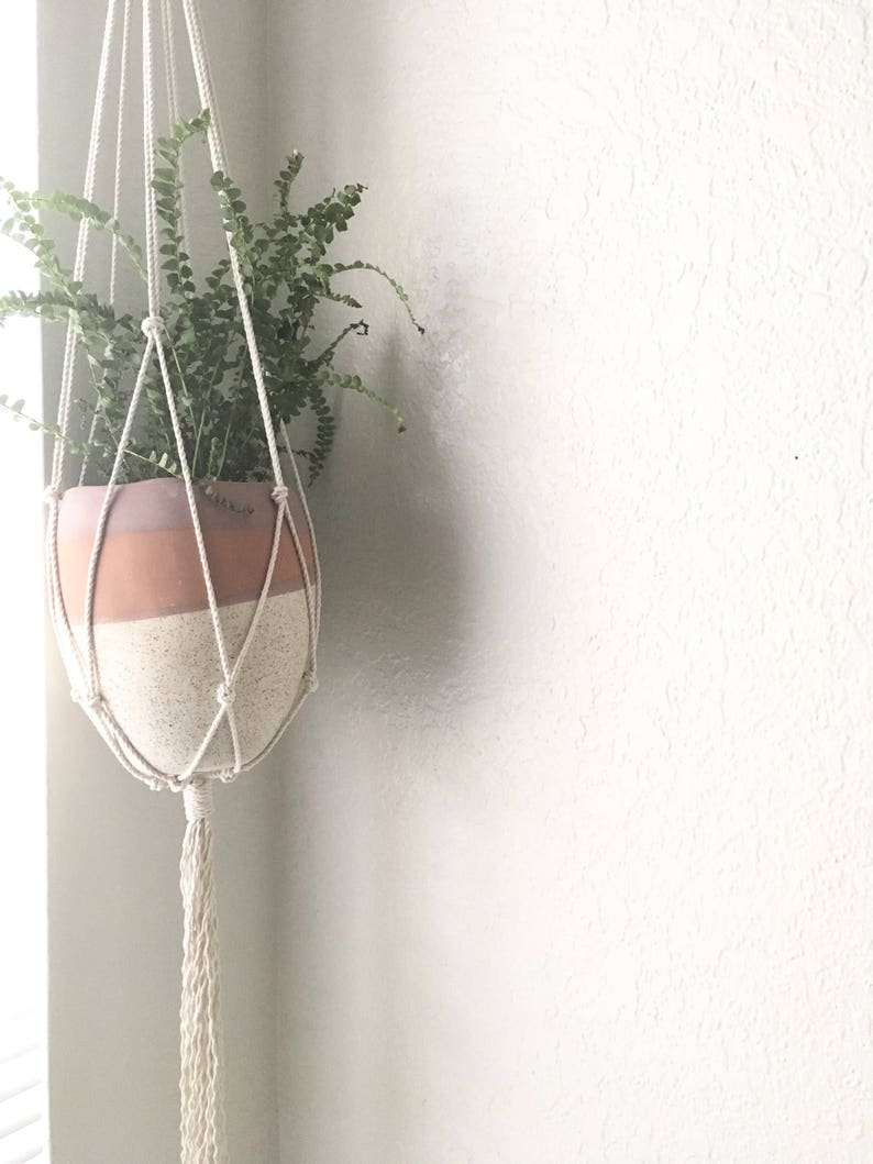 Macrame Plant Hanger Cotton Rope Bohemian Plant Holder Etsy
