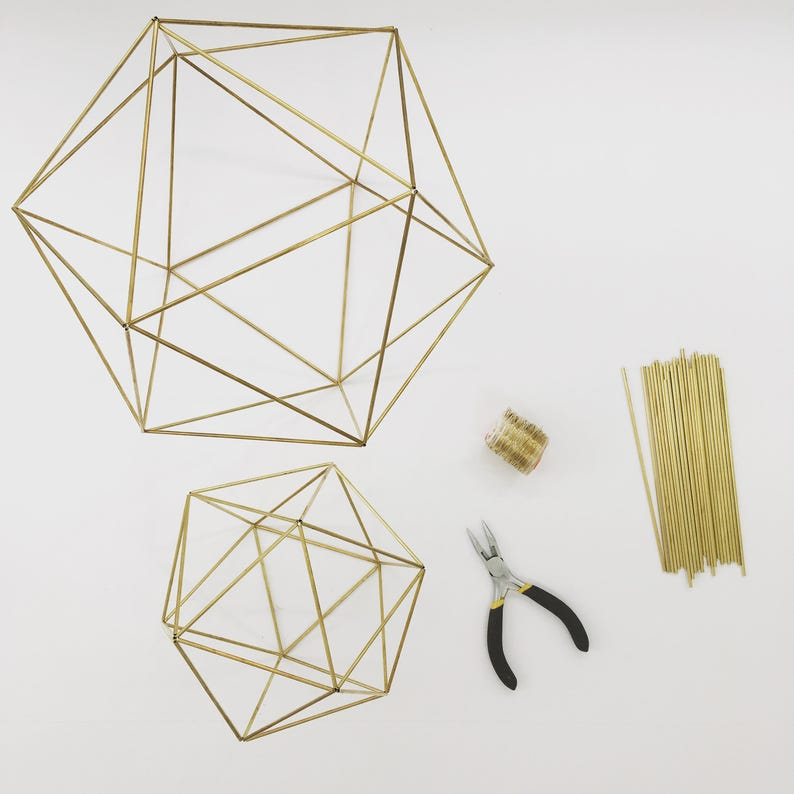 Diy Kit Pattern Geometric Icosahedron Himmeli Wedding Etsy