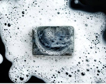 Activated Charcoal Soap, All Natural, Homemade Soap, Vegan Soap, Facial Soap, Acne Soap, Bergamot Scented