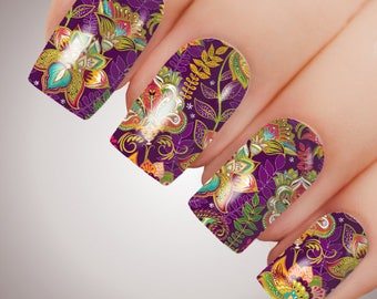 Angelique Floral - ULTIMATE COLLECTION - Full Nail Decal Water Transfer Tattoo #5074