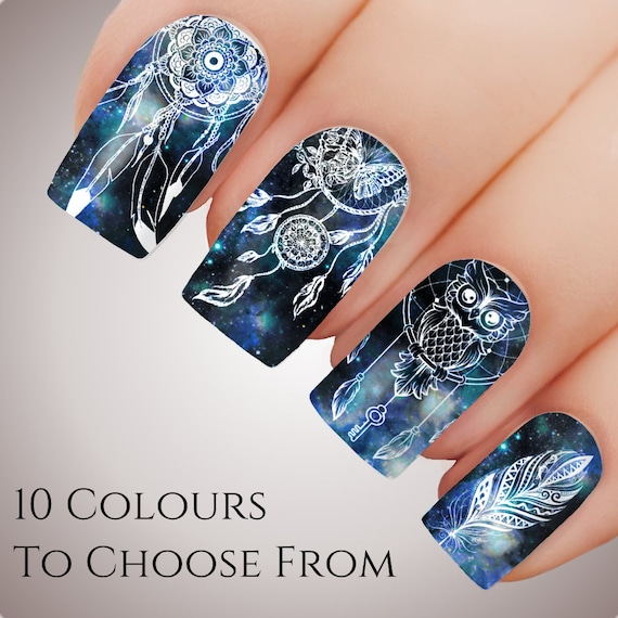 Fantasy Dreamcatcher Nail Art Water Decal Sticker Slider Etsy