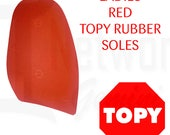 Topy Rubber Soles RED - 1.5mm Professional Grade - DIY - Christian Louboutin