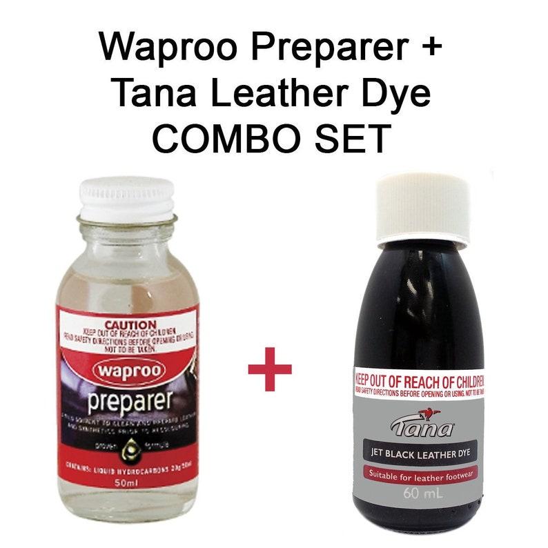 Black Leather Dye   Preparer 2 piece Combo Set Restores and  5b7671905e130