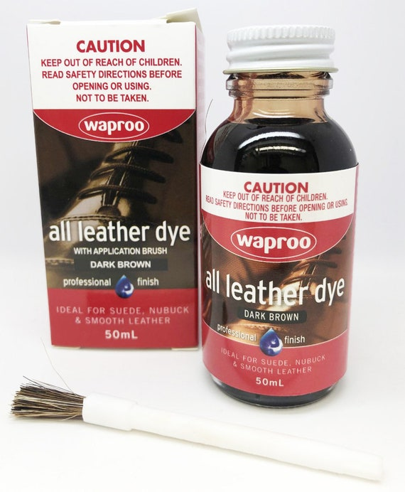 Waproo Dark Brown Leather Dye For Leather Shoe Bag Boot FREE  e9c4a67858803