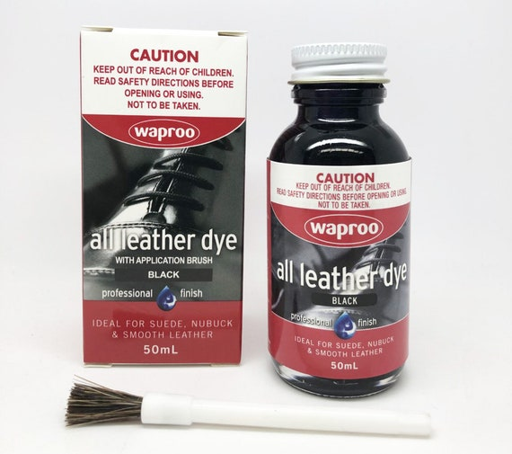 Waproo Black Leather Dye For Leather Shoe Bag Boot FREE POST  afd98cf550259