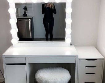 Hollywood Vanity Mirror.Perfect For Ikea Vanity(bULBS NOT INCLUDED)