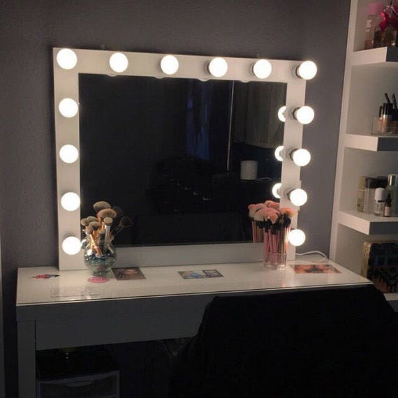 awesome Etsy Vanity Mirror Part - 2: Vanity mirror with Hollywood lighting.Perfect for ikea | Etsy