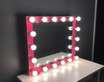 XL Vanity mirror with lights.(Bulbs not included) perfect for ikea table.