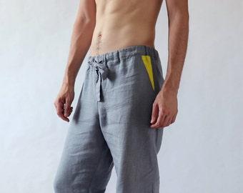 Natural mens linen pants, Lounge pants, Mens trousers, Pants for men, Mens beach pants, Linen clothes, Summer yoga pants, Sustainable