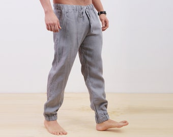 Mens Linen Pants Valentines Day Pants For Men Linen Outfits Etsy