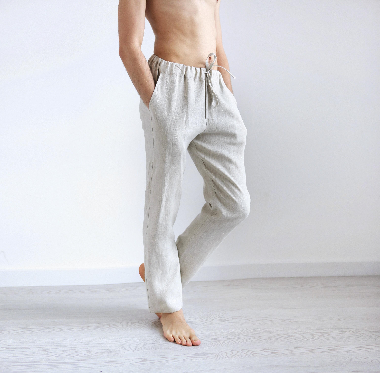 130120a690 Linen pants for men Summer pants Linen trousers Mans organic | Etsy