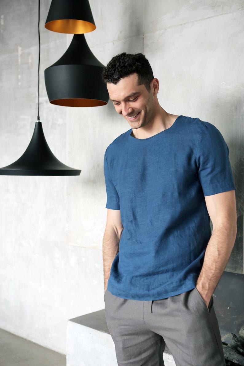 baf121f4a28 Mens linen t-shirt Summer t-shirt Shirt for men Organic