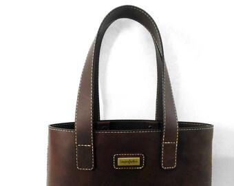 Dark Cocoa leather Tote, leather bag.