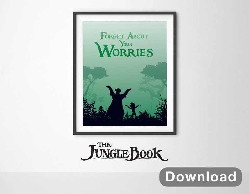 Jungle Book Disney Wall Art Instant Download Baloo Etsy