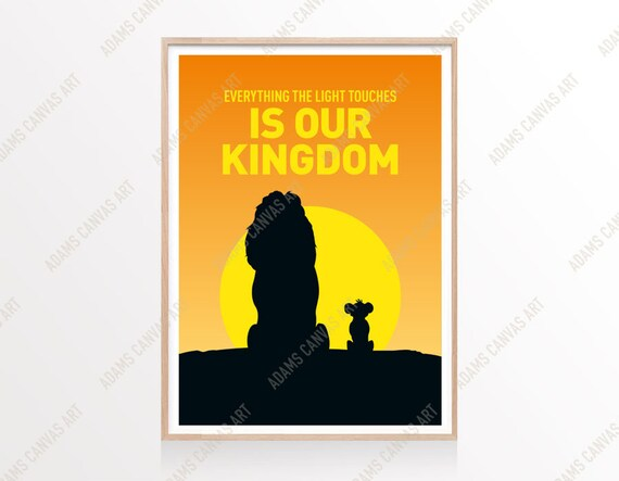 Lion King Print A6/A5/A4/A3/A2/A1 Disney Wall Art Decor