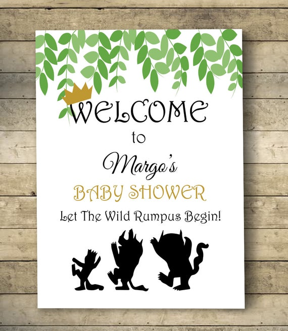 Where The Wild Things Are Baby Shower Welcome Sign