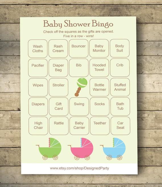 Stroller Baby Shower Bingo Cards Baby Shower Bingo Game 40 Unique Game Cards Printable Blank Bingo Cards And Prefilled Bingo Cards