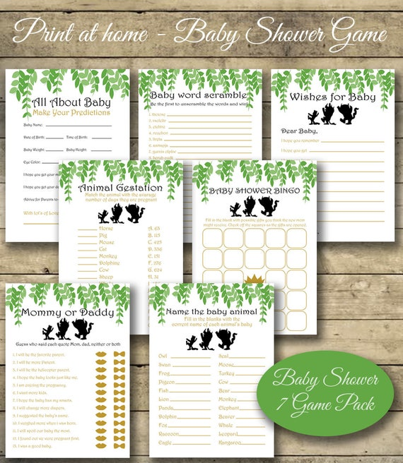 Where The Wild Things Are Baby Shower Games Baby Shower