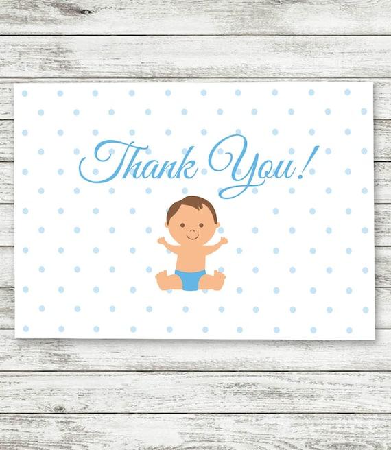 Baby Boy Thank You Cards Baby Shower Thank You Cards Boy Etsy