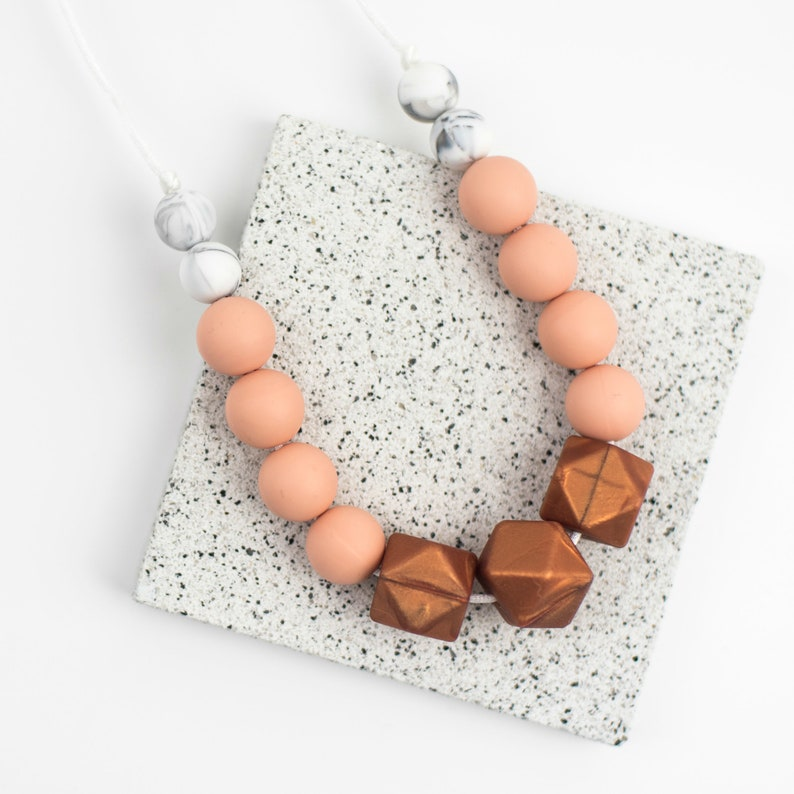 silicone teething necklace teething jewellery teething accessories Teething Necklace teething beads Copper breastfeeding necklace