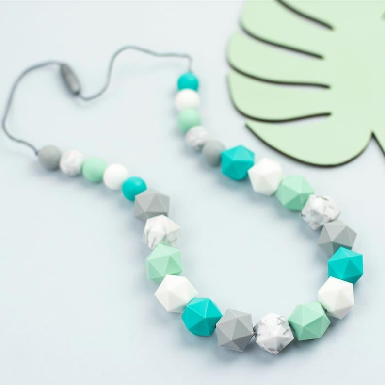 Nursing Necklace Breastfeeding Teething Jewelry Teether Baby Shower Gift Set