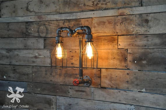 Lampe murale double vintage aries industriel industrial etsy