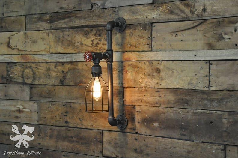 Wall lamp wall sconce cage vintage industrial industrial etsy