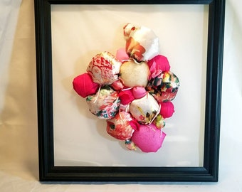 Pink sculptural Abstract Art, upcycled original artwork, womens contemporary office decor, housewarming gift, baby shower, girls nursery