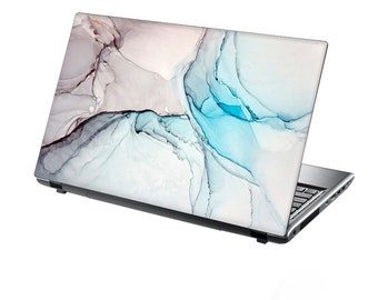 TaylorHe Laptop Skin Sticker Abstract Acrylic Style Painting Blue and Gold