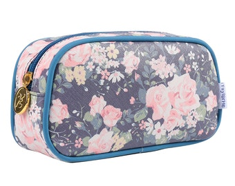 TaylorHe Make-up Bag Cosmetic Case Pencil Case Tea Rose Romance.
