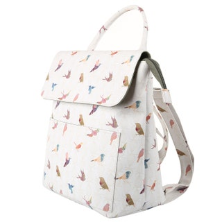 TaylorHe Backpack Rucksack Carry On Bag  Zipped Top Beautiful Birds.